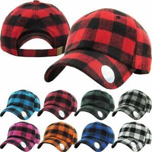 KB-Ethos-Plaid-Flannel-Baseball-Cap-Hat-Caps-Hats-Hunting-Vintage-Adjustable-New