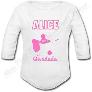 Body Bébé Tête de Mort Coeur Rose avec prénom personnalisé cadeau de naissance