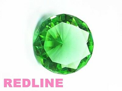 Light Green Decorative Round Crystal Diamond Shaped Paperweight- 4.00''
