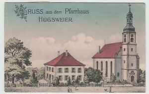 Hugsweier-bei-Lahr-Guesse-aus-dem-Pfarrhaus-Litho-1921-und-aelter