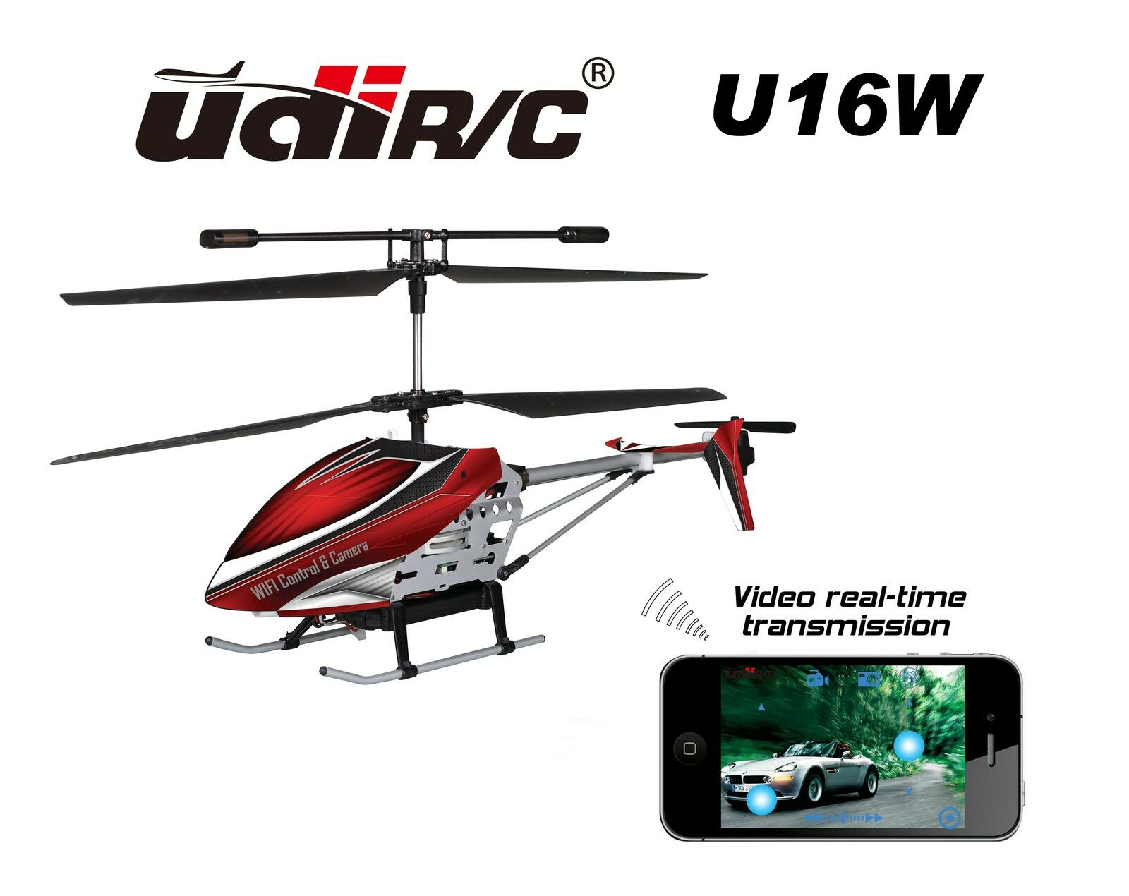 UDI/RC u16w Elicottero Coassiale Wifi Iphone Ipad controllato Elicottero