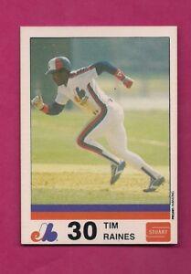 VERY-RARE-1983-MONTREAL-EXPOS-TIM-RAINES-STUART-NRMT-MT-CARD-INV-A4475