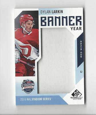 new styles 24f5a 85bab 2016-17 SP Game Used Banner Year Stadium Series 16 Dylan Larkin BANNER Red  Wings | eBay