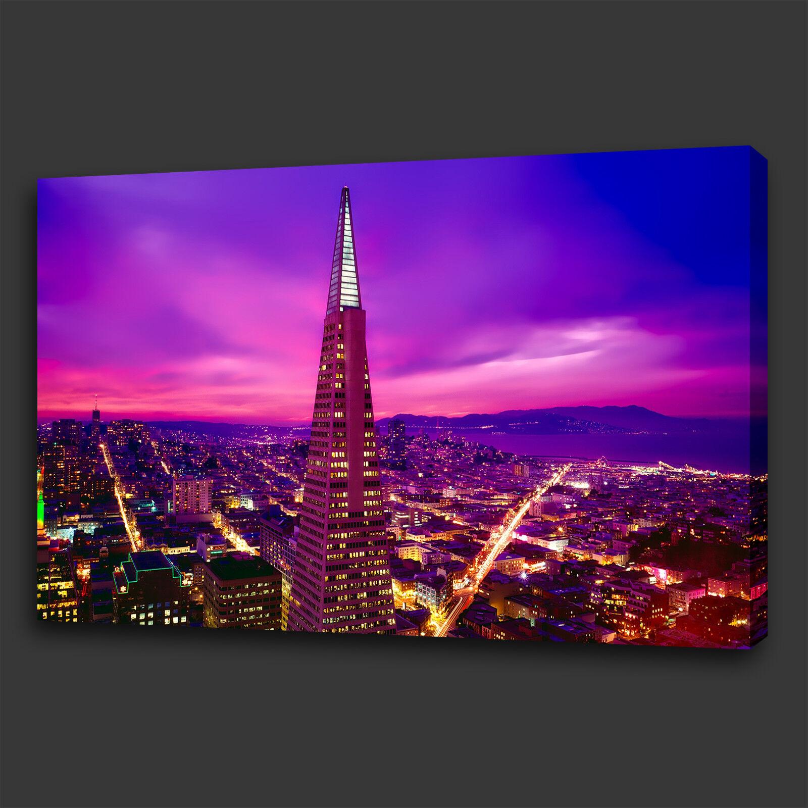 TRANSAMERICA PYRAMID SAN FRANCISCO BOX BOX BOX CANVAS PRINT WALL ART PICTURE PHOTO 55eb8c