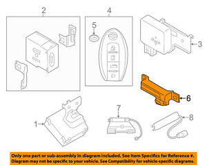 nissan oem keyless entry antenna 285e4jk60a ebay. Black Bedroom Furniture Sets. Home Design Ideas