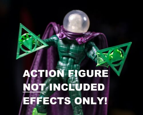 1//12 EFFECT ONLY Marvel Legends Mysterio Green Magic Effects Set of 2