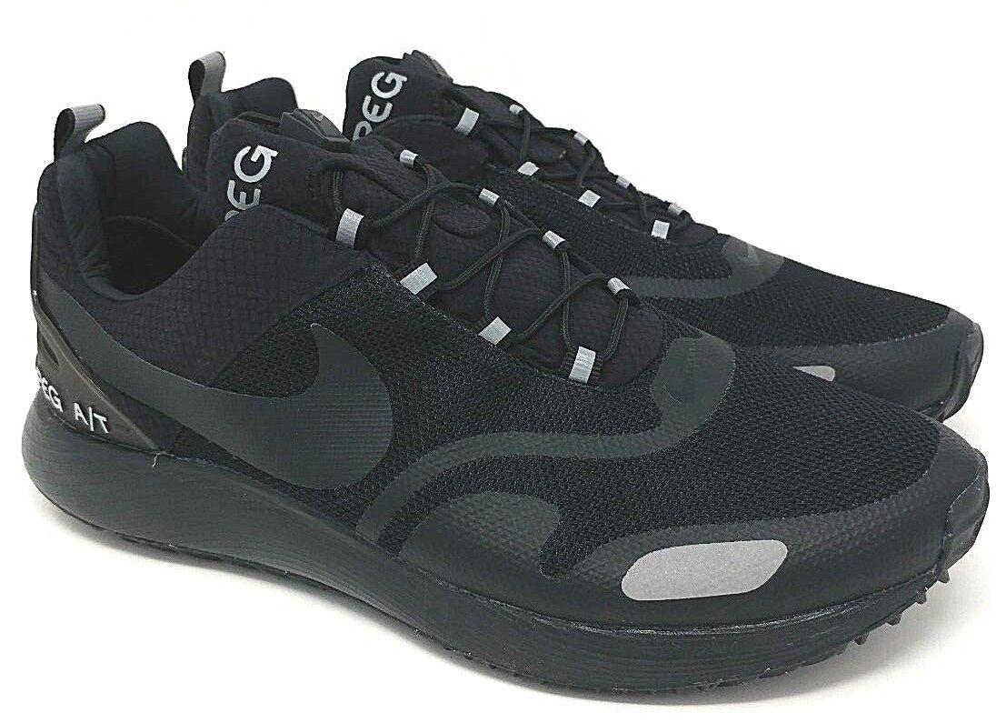 Nike air pegasus tutto terreno misura 9 nero / argento metallico (campione)
