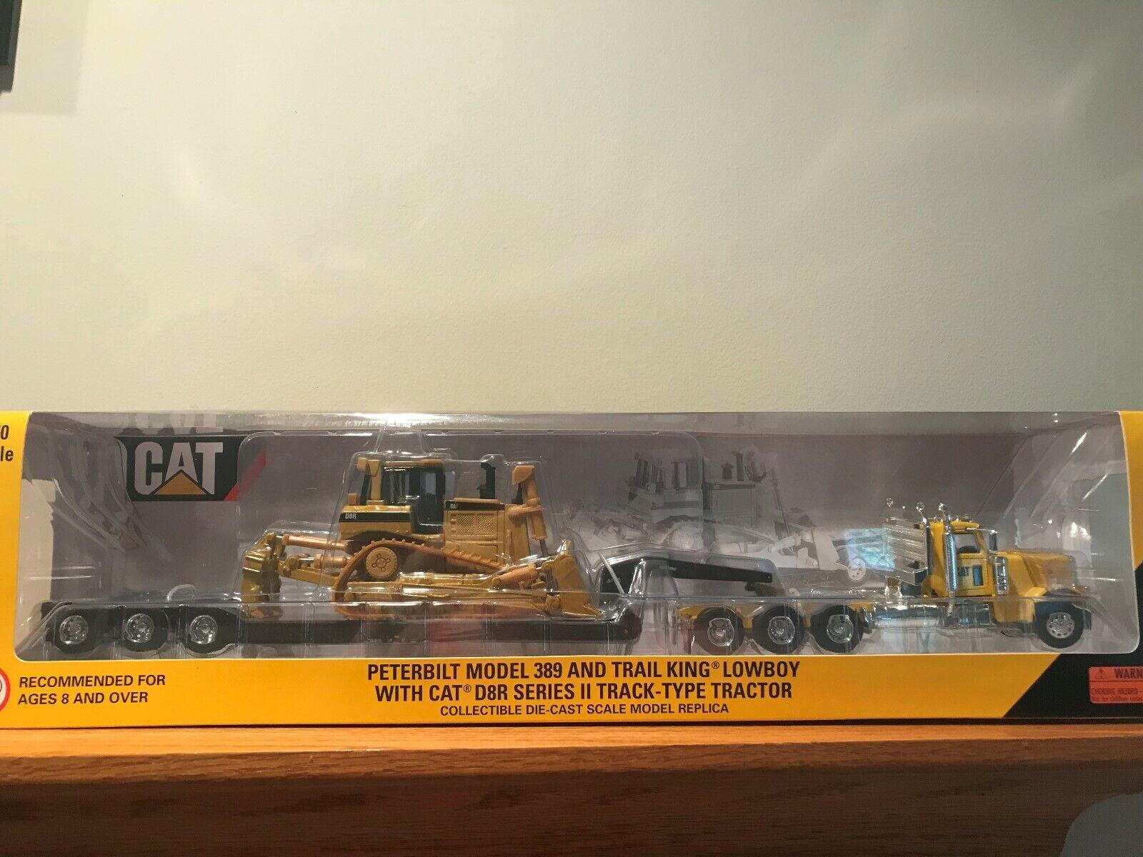Norscot CAT Peterbilt 389  Faibleboy with CAT D8R Series II Dozer 1 50 Scale 55207  meilleure qualité meilleur prix