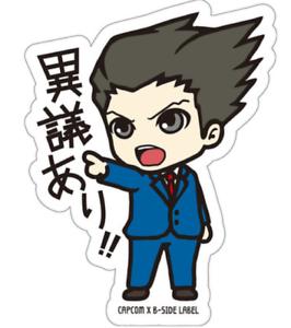 B-SIDE LABEL Sticker Ace Attorney Phoenix Wright Type B Japan import NEW
