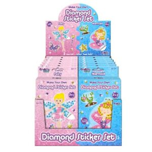 Details about 1 x Diamond Sticker Set Craft Kids Rainy Day Activites Fairy  Mermaid Picture Fun