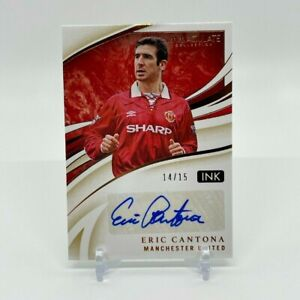 2020 Panini Immaculate Collection ERIC CANTONA #/15 Autograph Manchester United