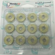DecoBob Prewound Bobbins by Wonderfil DUSTY ROSE DB221 Pkg of 12 bobbins
