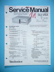original Mit Den Modernsten GeräTen Und Techniken Geschickt Service Manual Für Technics Su-v6x Tv, Video & Audio