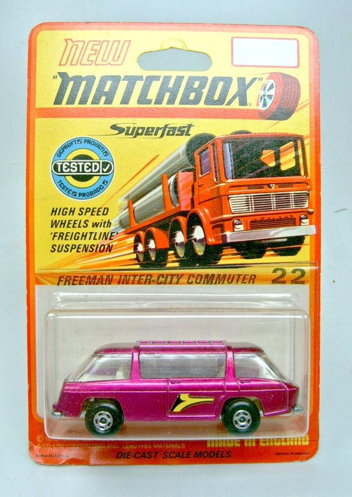 buscando agente de ventas Matchbox SF nº 22b Freeman Intercity purpurmetallic top a escasos escasos escasos termosellada  Mejor precio