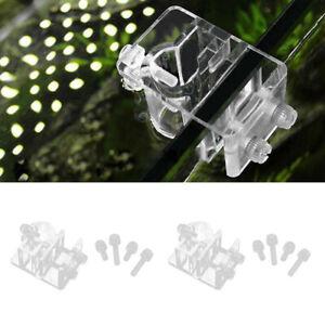 2X-Acryl-Aquarium-Schlauchhalter-Halterung-Wasserpfeife-Filter-Schlauch-Halter