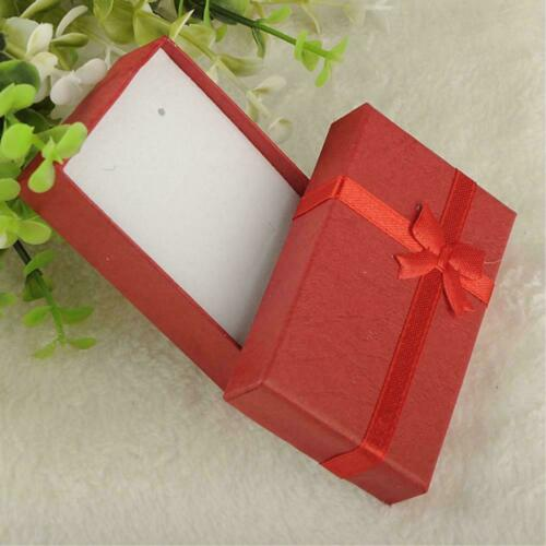 JEWELLERY GIFT BOX RIBBON BOW For RING NECKLACE BRACELET EARRINGS HO BOXES R8E7