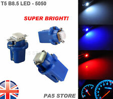 3x T5 B8.5 Dashboard LED BLUE (3pcs) - Super Bright 5050 Bulbs Quality. UK Post