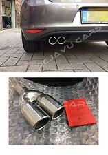 GTD look Endrohr Edelstahl VW Golf 7 Auspuff blende Anschweißendrohr 76mm + ABE