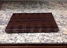 """Walnut Butcher Block Cutting Board NEW End Grain 12 X 18 X 1-3/8"""" All Brown"""