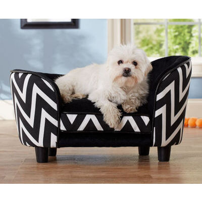 Enchanted Home Chaise Lounge Pet Bed For Small Dogs - Black