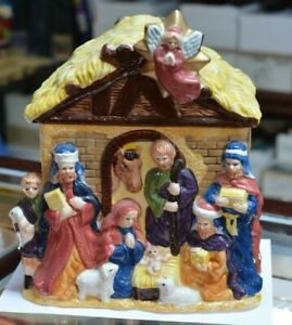 Jay-Imports-12-034-Ceramic-Cookie-Jar-Christmas-Nativity-Scene-Manger-Jesus