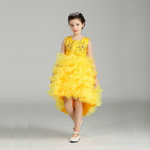 Flower Girls Kids Princess Dress for Girls Party Wedding Bridesmaid Gown K105B