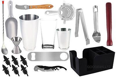 20 piece Professional Bartender Kit, Bartending Tools, Cocktail Shaker Set