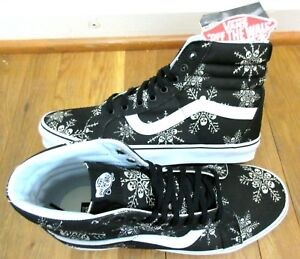 09648ea72c Vans Mens Sk8-Hi Reissue Van Doren Skull Snowflake shoes Black White ...