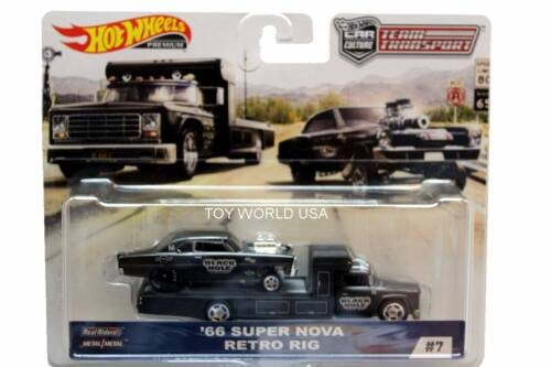 2019 HOT WHEELS voiture culture équipe transport #7/'66 Super Nova Rétro Rig