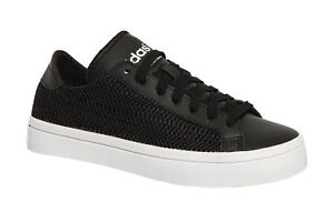 wholesale dealer 95753 f36c1 Image is loading Adidas-Originals-Court-Vantage-Womens-Mesh-Black-Trainers-