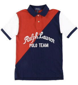 Ralph Lauren polo club navy and red embroidered polo shirt Xxl