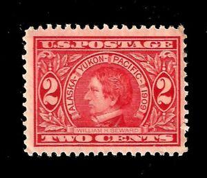 US-1909-SC-370-2-c-William-Seward-Mint-NH-Crisp-Color-Centered