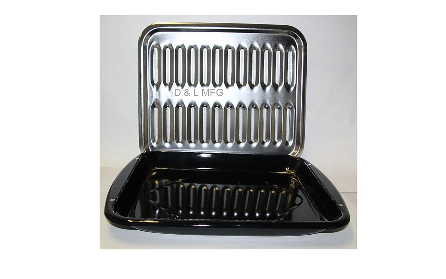 Porcelain Pan with Chrome Grill, boiler Pan PL