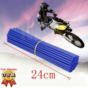 72x Motorcycle Dirt Bike Spoke Skins Covers Wraps Wheel Rim Guard Protector