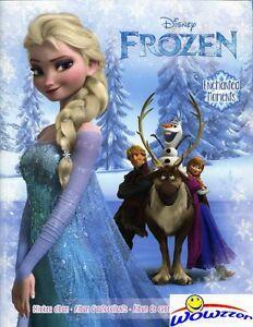 2015 Panini Frozen Enchanted Moments Collectors Sticker Album+10 Bonus Stickers