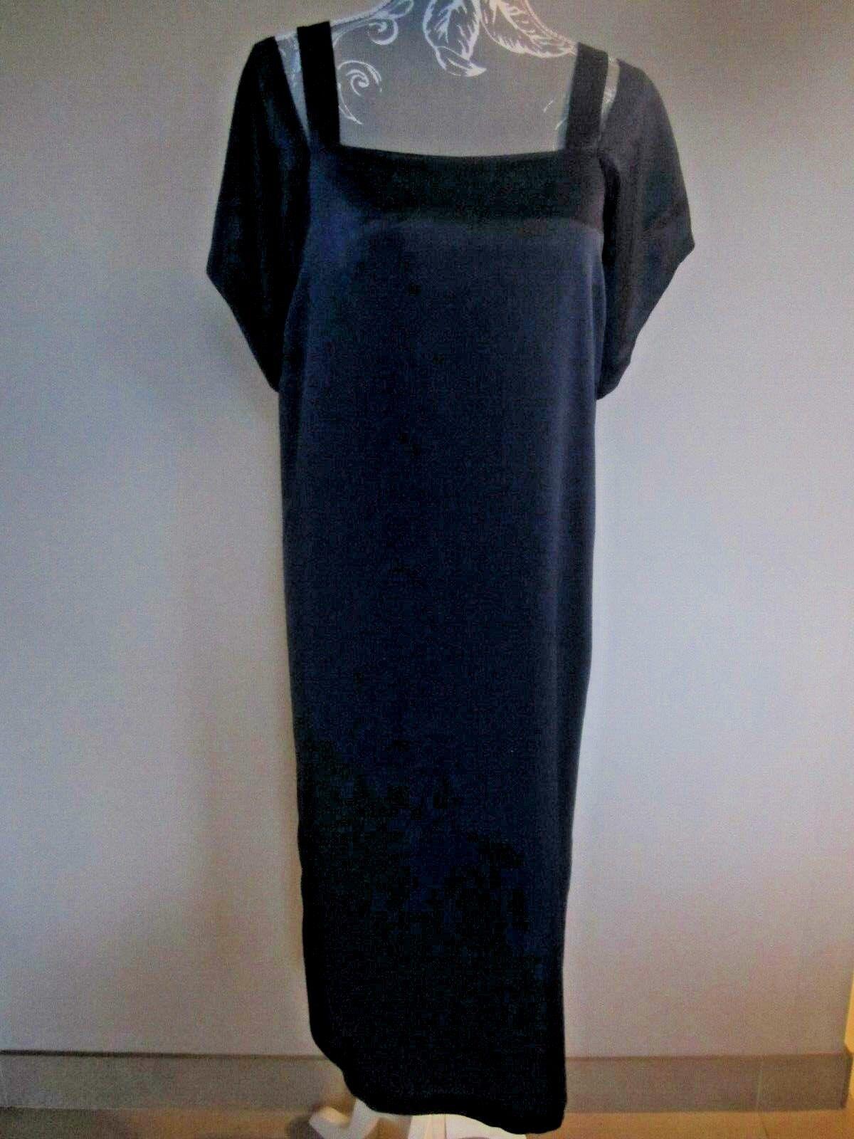 BNWT NEW 100% SILK TOPSHOP COLD SHOULDER dress Navy size ; RRP