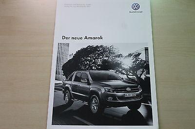 Vw Amarok Prospekt 09/2010 Die Neueste Mode Technik & Preise & Extras 171608