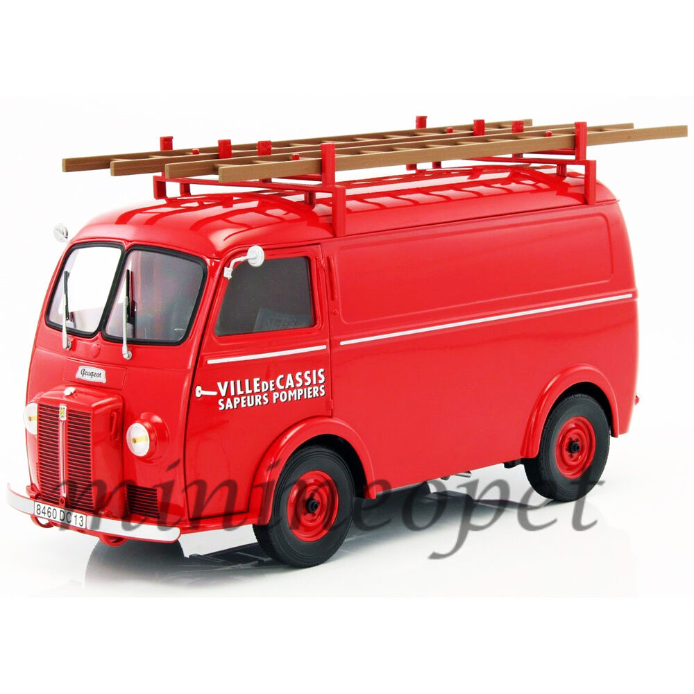NOREV 184707 1955 PEUGEOT D4A with LADDERS LADDERS LADDERS POMPIERS 1 18 DIECAST MODEL CAR RED b918d6