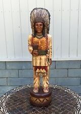 John Gallagher Carved Wooden Cigar Store Indian 3 Feet Tall in Stock !
