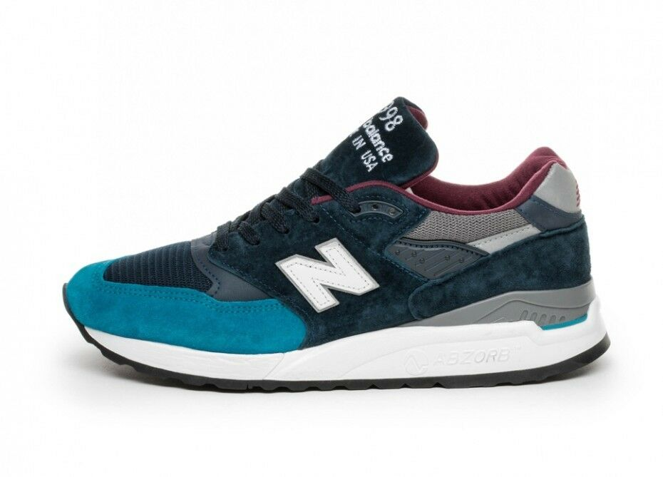 New Balance 998 Made in USA in Teal   Maroon M998TCA Size 8-12