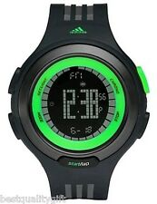 NEW ADIDAS BLACK & GREEN DIGITAL CHRONO RESPONSE SEQUENCE WATCH-ADP3069