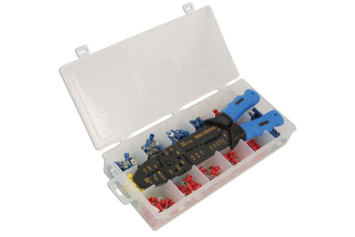 LASER TOOLS CRIMPING WIRE STRIPPING PLIERS AND TOOL SET TERMINALS ASSORTED