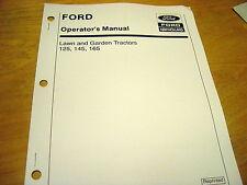 Ford LGT125 LGT145 LGT165 Garden Lawn Tractor Operator's Manual Mower LGT