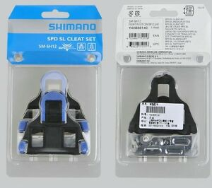 Shimano-SM-SH12-Cleat-set-2-degree-Float-SPD-SL-Road-Bike-Pedal-Cleats-Y40B98140