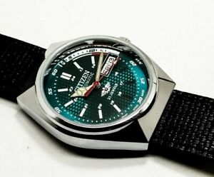 CITIZEN-AUTOMATIC-MEN-S-STEEL-PLATED-VINTAGE-GREEN-DIAL-MADE-JAPAN-WATCH-ORDER