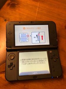 Nintendo new 3DS LL XL console Metallic Black Japan *Read*