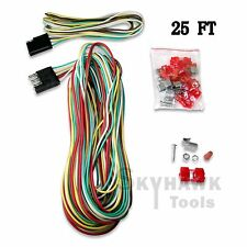 s l225 25ft 4 way trailer wiring connection kit flat wire extension 4 Flat Trailer Wiring Diagram at honlapkeszites.co