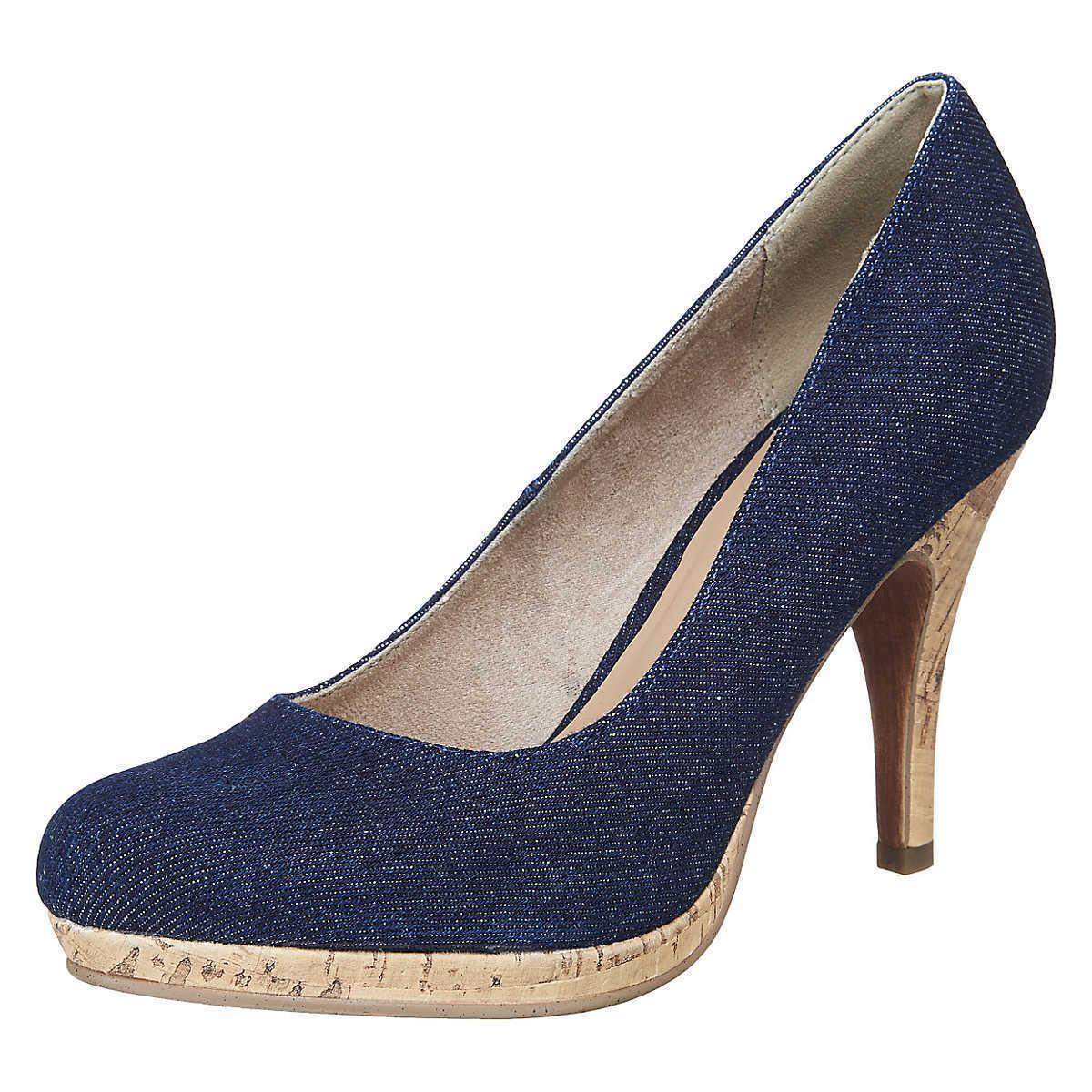 Tamaris Damen Pumps Damenschuhe, blau, EUR 38