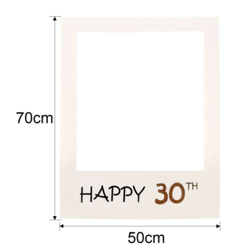 16//18//30//40//50//60//70th 21st Frame Photo Booth Props Happy Birthday Paper Party