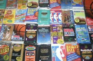 LOT of 100 UNOPENED BASKETBALL CARDS in SEALED PACKS 1990's MICHAEL JORDAN Try!